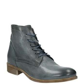 Kožená kotníčková obuv modrá bata, modrá, 596-9646 - 13