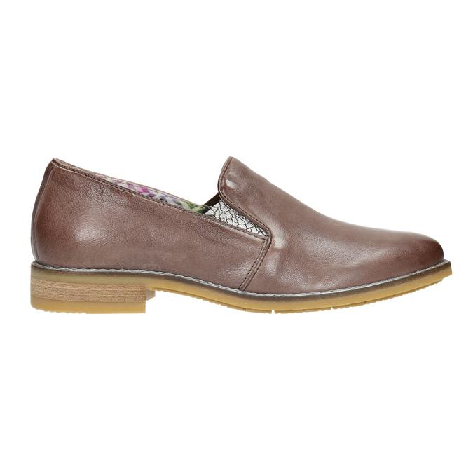Dámské kožené Loafers bata, hnědá, 2021-516-3603 - 15
