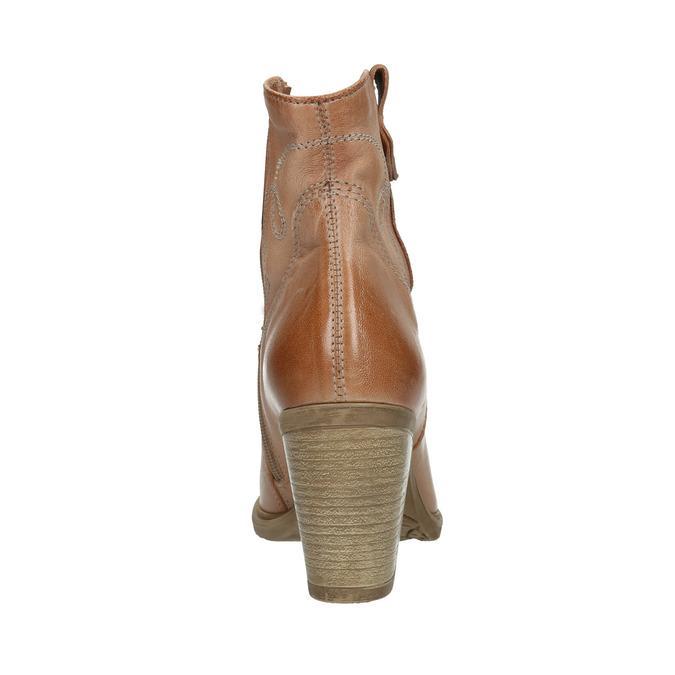 Kožené kozačky ve western stylu bata, 2021-796-3642 - 17