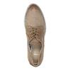 Dámské kožené polobotky s perforací bata, hnědá, 526-4621 - 19