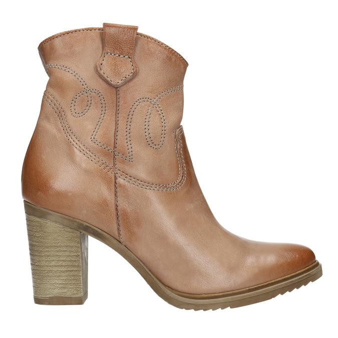 Kožené kozačky ve western stylu bata, 2021-796-3642 - 15