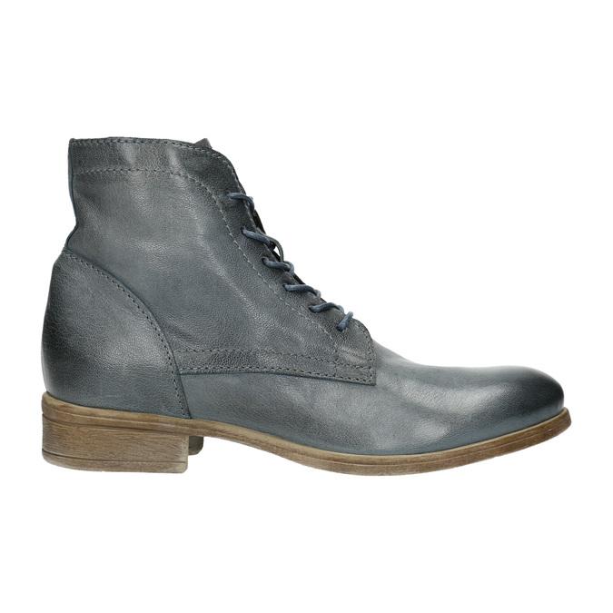 Kožená kotníčková obuv modrá bata, modrá, 2021-596-9646 - 15