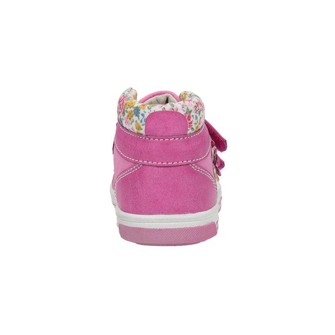 Dívčí kotníčková obuv s kytičkami bubblegummers, růžová, 121-5612 - 17
