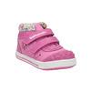 Dívčí kotníčková obuv s kytičkami bubblegummers, růžová, 121-5612 - 13