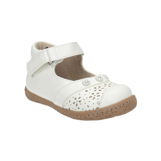 Dívčí kotníčková obuv bubblegummers, bílá, 121-1617 - 13