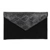 Obálkové psaníčko se stříbrným řetízkem bata, černá, 969-6644 - 26