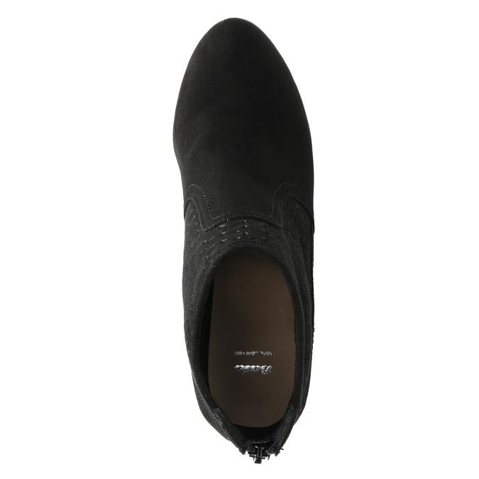 Kotníčkové kozačky na jehlovém podpatku bata, černá, 729-6603 - 19