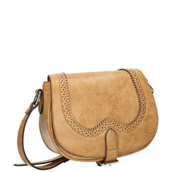 Crossbody kabelka s perforací bata, hnědá, 961-3337 - 13