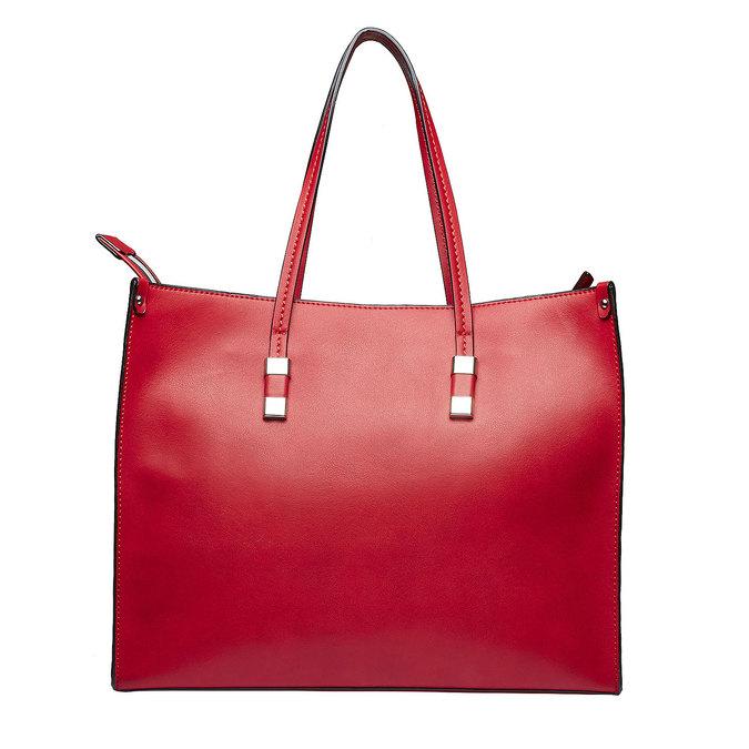 Hranatá kabelka v Shopper stylu bata, červená, 961-5736 - 26