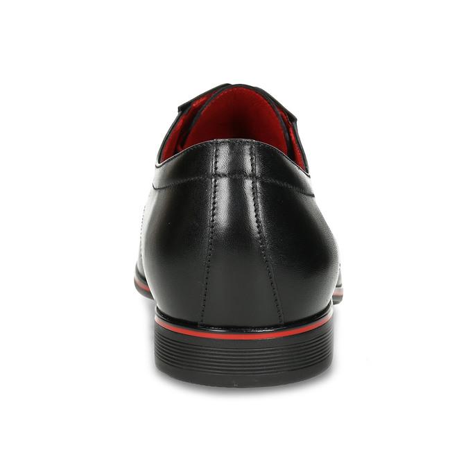 Černé kožené polobotky s červenými detaily conhpol, černá, 824-6873 - 15