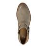Kožená kotníčková obuv se sponou bata, hnědá, 596-3634 - 19