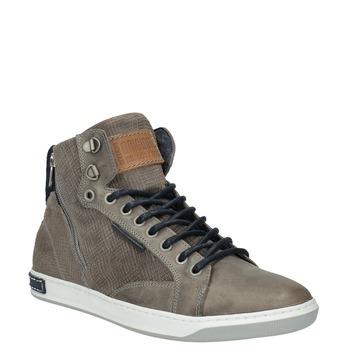Kožené kotníčkové tenisky bata, hnědá, 844-2632 - 13