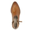 Kožené kotníčkové kozačky s perforací bata, 2021-596-4647 - 19