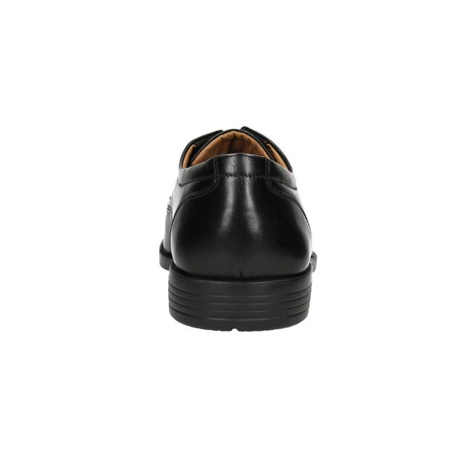 Pánské kožené polobotky s prošitím přes špici bata, černá, 824-6815 - 17