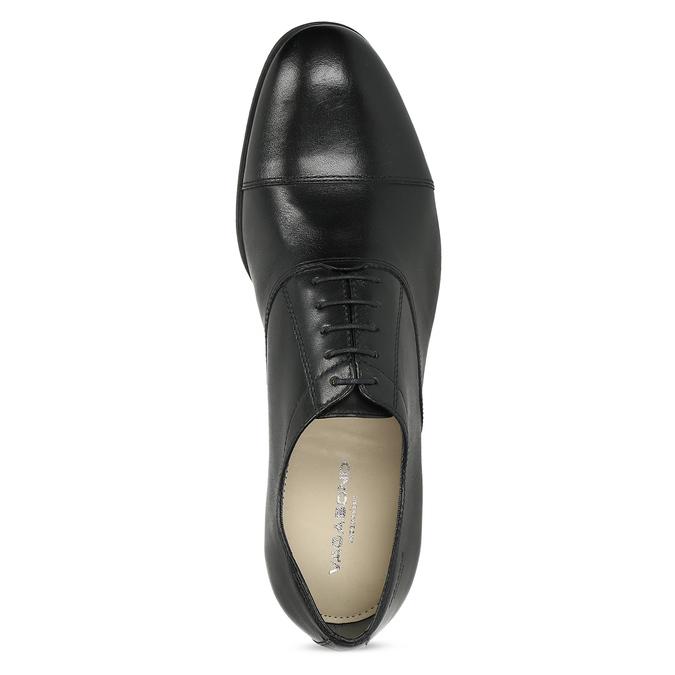 Černé kožené Oxford polobotky vagabond, černá, 824-6048 - 17