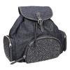 Dámský batoh s kovovými ozdobami bata, modrá, 969-9240 - 13