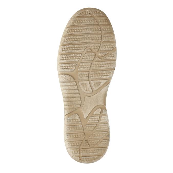 Ležérní kožené polobotky weinbrenner, béžová, 846-8631 - 26