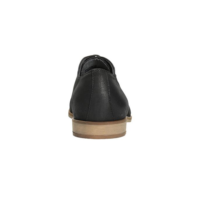 Pánské kožené Oxford polobotky vagabond, černá, 823-6017 - 17