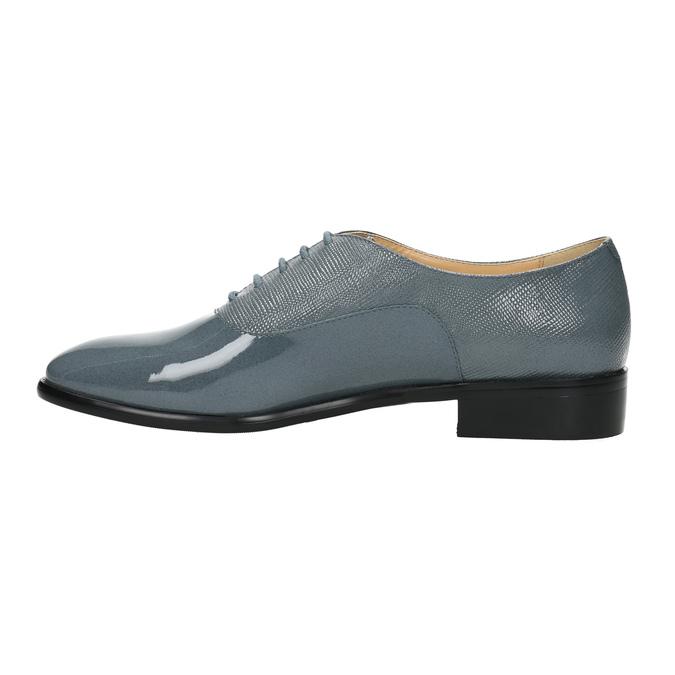Kožené dámské polobotky bata, modrá, 2021-528-9633 - 26