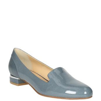 Kožená dámská obuv ve stylu Loafers bata, modrá, 518-9600 - 13