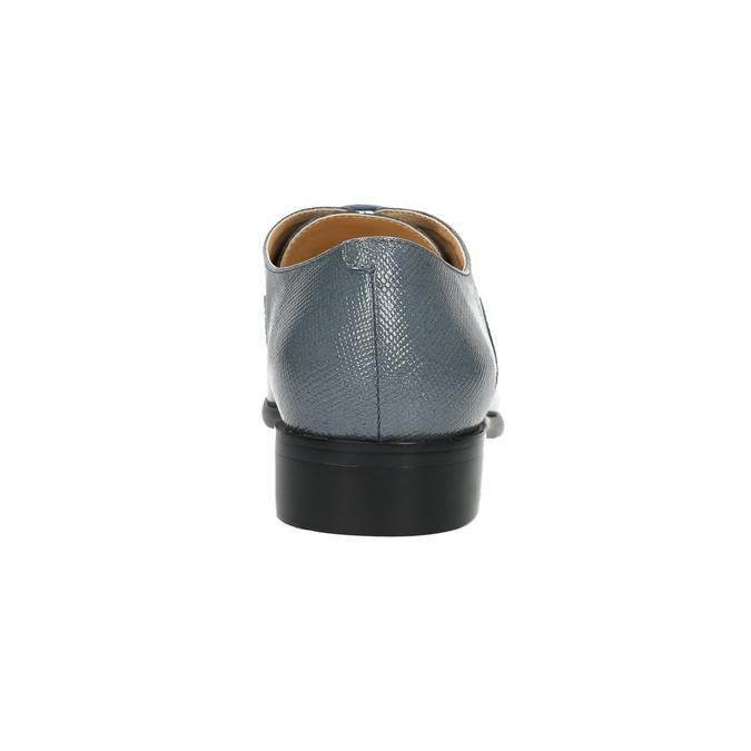 Kožené dámské polobotky bata, modrá, 2021-528-9633 - 17