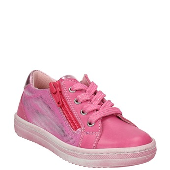 Kožené dětské tenisky mini-b, růžová, 226-5600 - 13