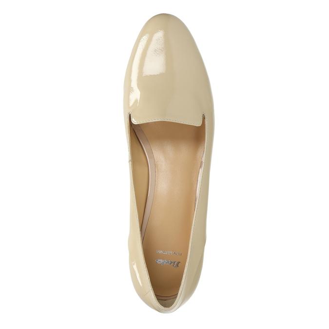Lakované dámské Loafers bata, béžová, 518-8600 - 19