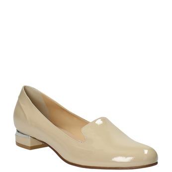 Lakované dámské Loafers bata, béžová, 518-8600 - 13