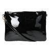 Lakovaná dámská kabelka Crossbody bata, černá, 961-6683 - 19