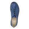 Modré kožené polobotky v ležérním stylu bata, modrá, 526-9624 - 19
