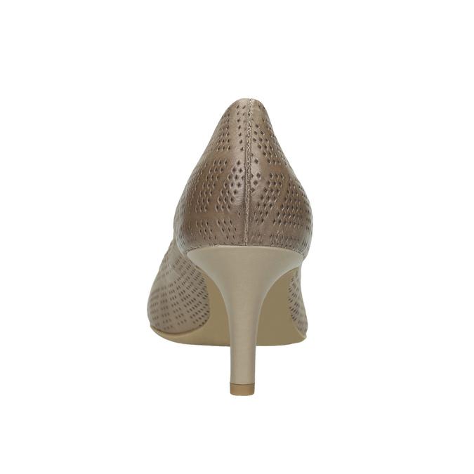 Dámské lodičky s perforací bata, béžová, 626-2636 - 17