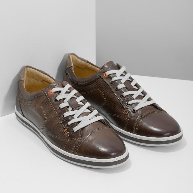 Kožené pánské tenisky bata, hnědá, 846-4617 - 26