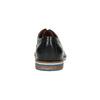 Kožené polobotky s pruhovanou podešví bata, černá, 826-6790 - 17
