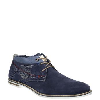 Kožená kotníčková obuv bugatti, modrá, 823-9608 - 13