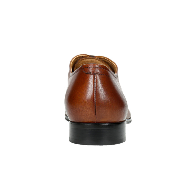 Hnědé kožené Oxford polobotky bata, hnědá, 826-3819 - 17
