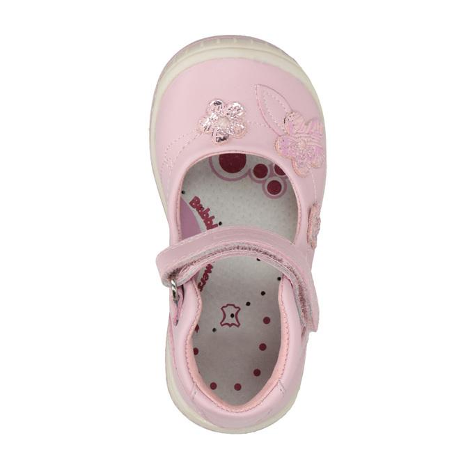 Kožené dětské baleríny bubblegummers, růžová, 124-5600 - 19