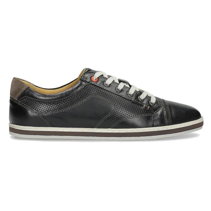 Pánské kožené tenisky bata, černá, 846-6617 - 19