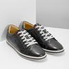 Pánské kožené tenisky bata, černá, 846-6617 - 26