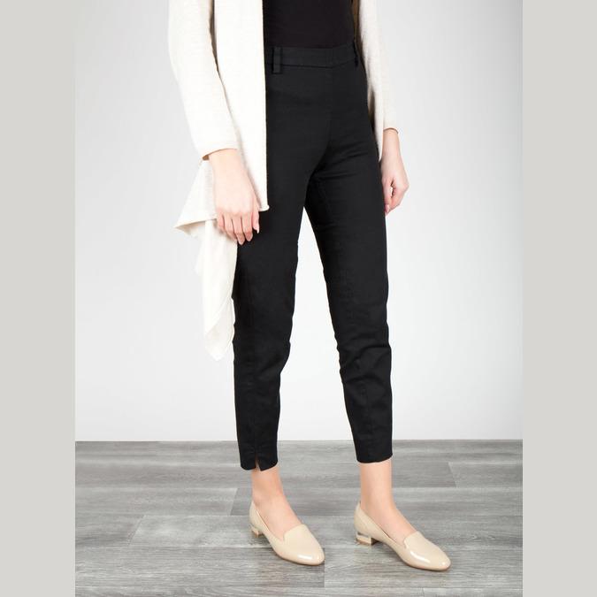 Lakované dámské Loafers bata, béžová, 518-8600 - 18