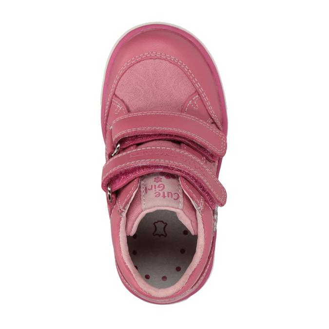 Dětské tenisky se suchými zipy bubblegummers, růžová, 126-5600 - 19