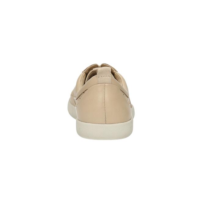 Dámské kožené tenisky s perforací bata, béžová, 526-8618 - 17