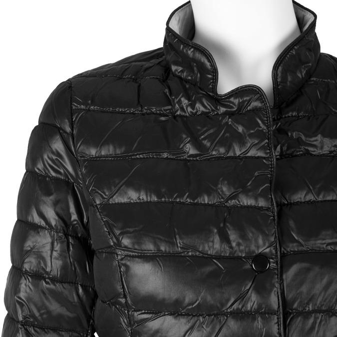 Prošívaná bunda s límečkem bata, černá, 979-6206 - 16