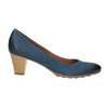 Dámské kožené lodičky bata, modrá, 626-9639 - 15
