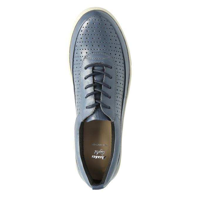 Dámské kožené tenisky modré bata, modrá, 526-9618 - 19