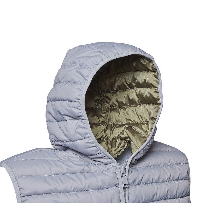 Pánská prošívaná vesta s kapucí bata, šedá, 979-2614 - 16