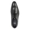 Černé kožené Derby polobotky bata, černá, 826-6804 - 19