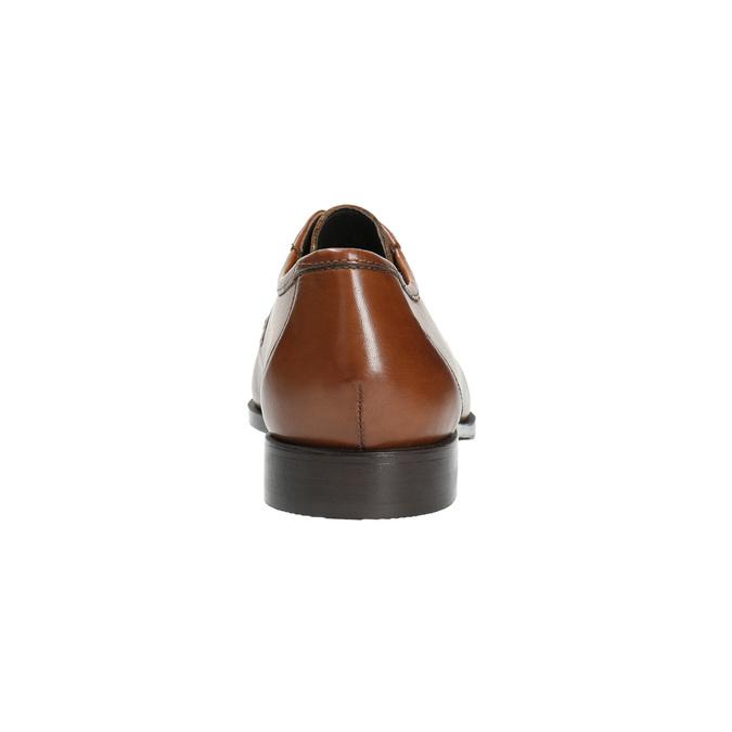 Kožené pánské polobotky s výrazným prošitím bata, hnědá, 824-4838 - 17