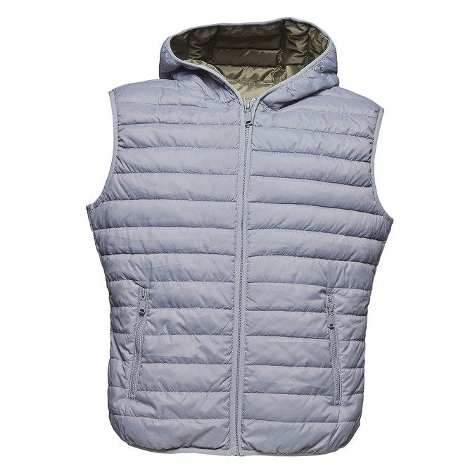 Pánská prošívaná vesta s kapucí bata, šedá, 979-2614 - 13