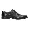 Pánské kožené polobotky bata, černá, 824-6839 - 15