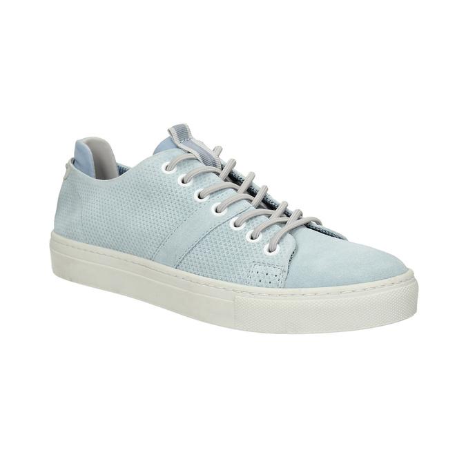 Kožené dámské tenisky bata, modrá, 523-9601 - 13